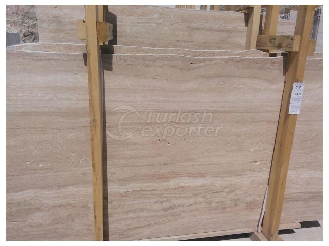 Beige Vein Cut Travertine Slab