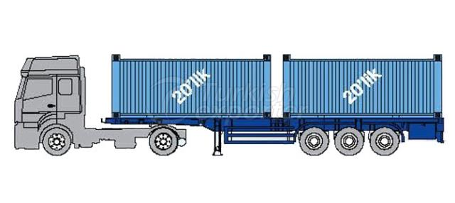 Container Carrier Semi Trailer