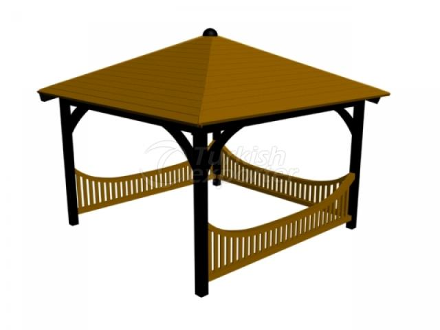 Metal - Wooden Gazebo