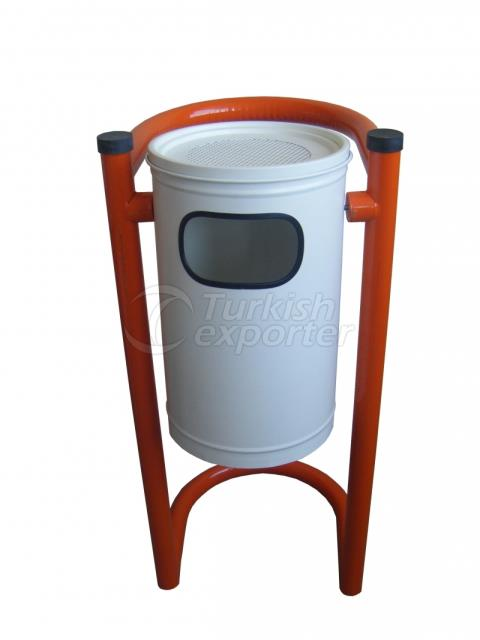 Trush Bin With Metal Legs