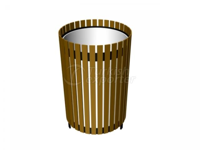 Wooden Coated Trush Bin
