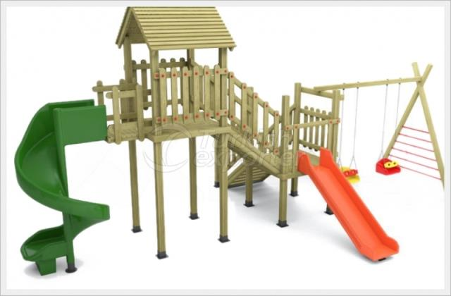 Wooden Kids Playground BAB-P-15505
