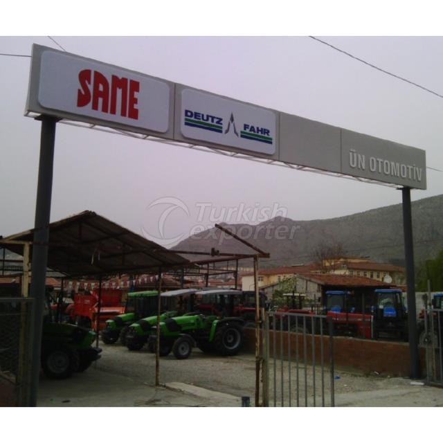 Ornate Main Gate Entrance Sign
