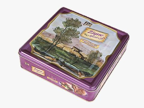 Elif Ziyne Square Tin Box