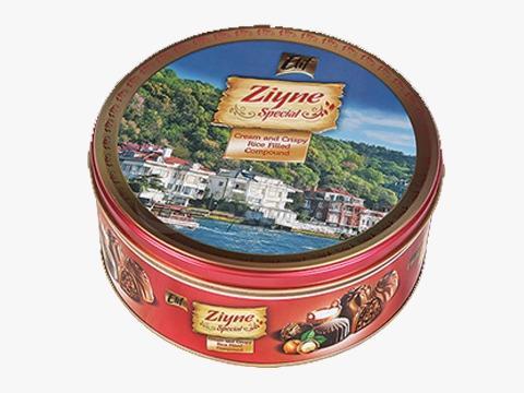 Elif Ziyne Cylinder Tin Box