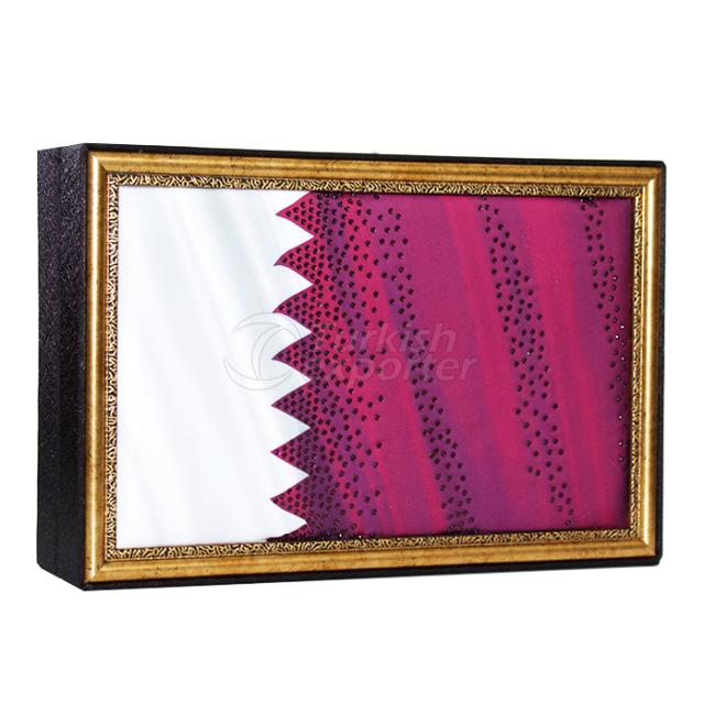 Qatar Flag Luxury Chocolate Box
