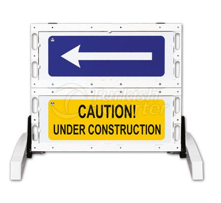 Foldable Traffic Sign Barricades  12501 FB R