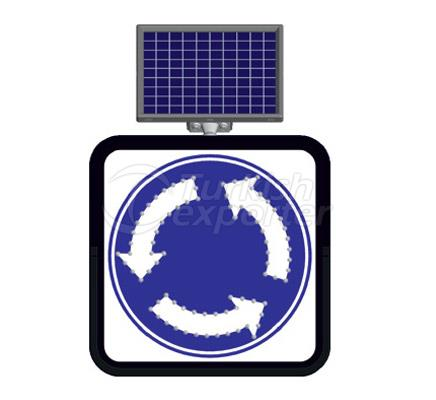 Solar Flashing Traffic Led Signs   11849 FL
