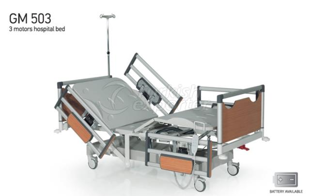 Lit d'hôpital GM 503 3 moteurs