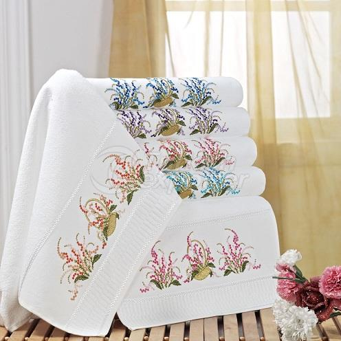 SEPHIA EMBROIDERED TOWEL