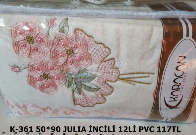 JULIA PEARL VELVET TOWEL