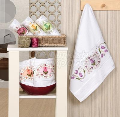 SAFIR EMBROIDERED BLING TOWEL