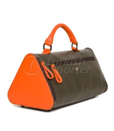 Bermuda Womens Leather Handbag Khaki-Orange
