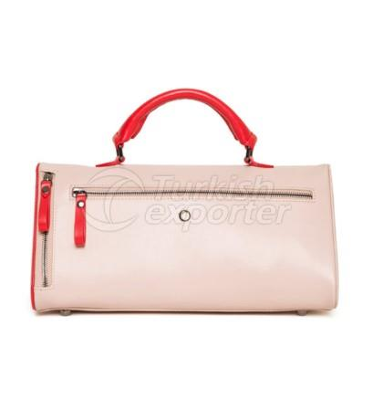 Bermuda Womens Leather Handbag Red - Pink