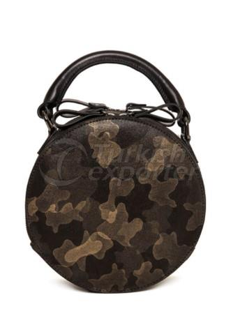 Camouflage Round Handbag with Zipper Ovi Fellow