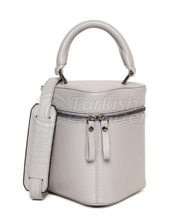 Little Bermuda Leather Top Handle Bag Light Grey