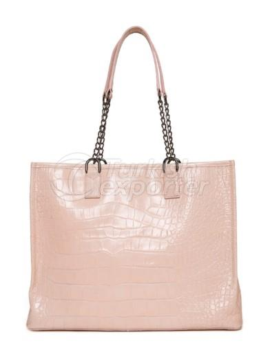 Leather Tote Bag Pink Lemonade JI SHOPPER