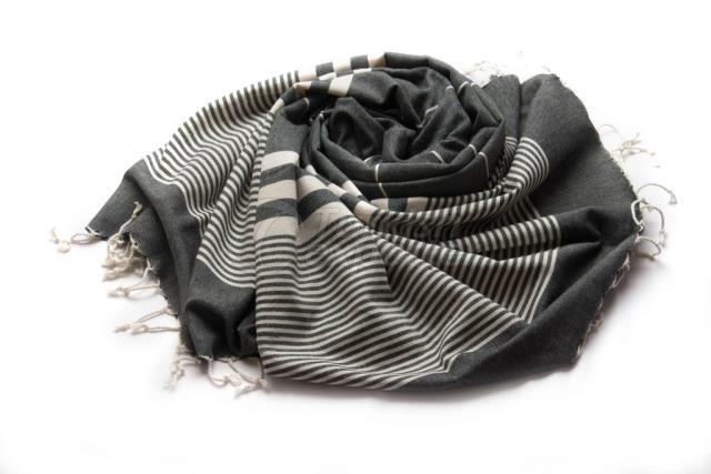 Тканое Пестеля-Турецкое полотенце, Экологичное полотенце для ванны, Черный, Полосатый