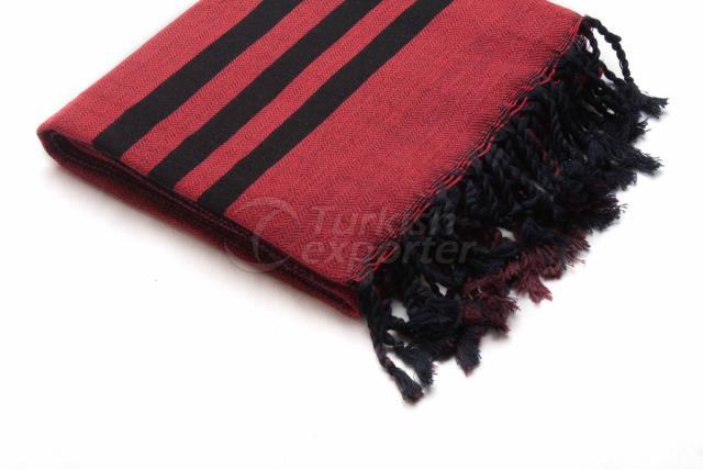 Ткачество турецкого полотенца, пештемал-банное полотенце, красный, черный