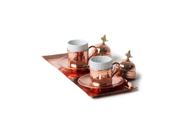 Медный кофейный набор, эспрессо, красный