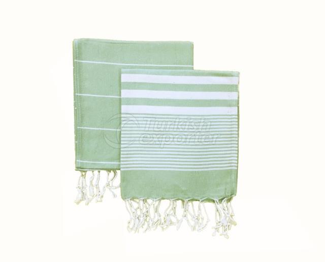 Набор из 2, Плетеная чашка для пейкира, миндальный зеленый