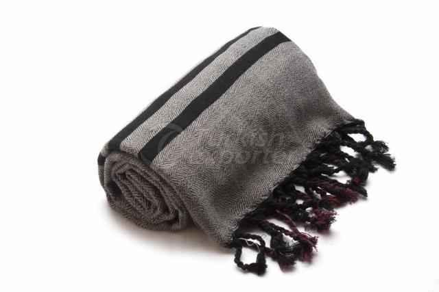 Ткачество турецкого полотенца, пештемал-банное полотенце, серый, черный, красный