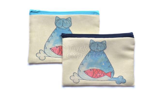 Синяя кошка, сумка-молния на молнии