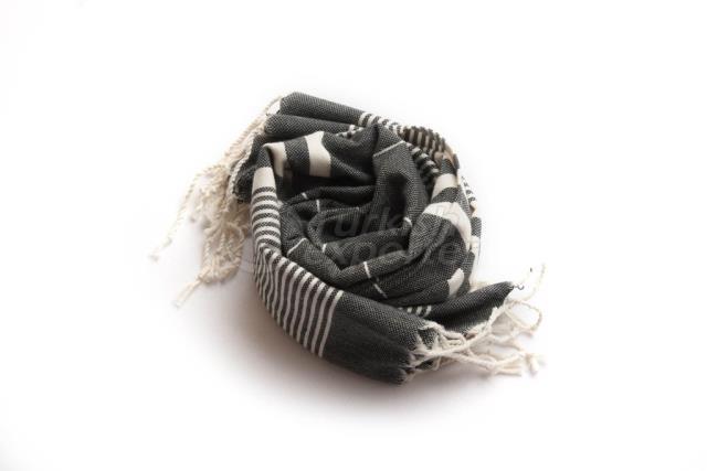 Набор из 2, Тканые полотенца для полотенец-полотенца с плетением, черный