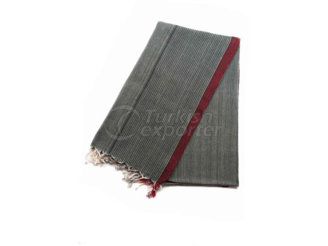 Ткацкое турецкое полотенце, плащ-пляжный пешеходный платок, серый, красный