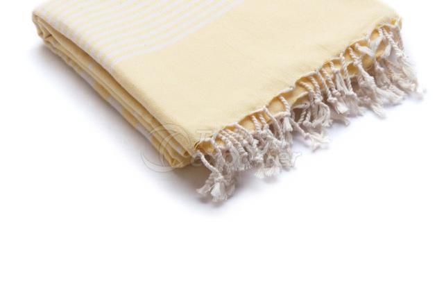 Тканое Пестеля-Турецкое полотенце, Желтое, Выровненное