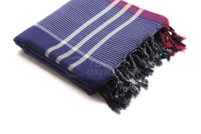 Тканое турецкое полотенце, пештэмал-банное полотенце, фиолетовый, красный