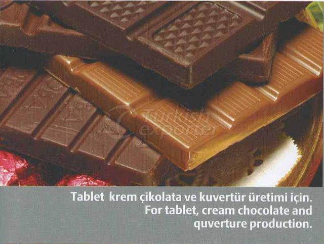 For Tablet Cream Chocalate and Quverture Production