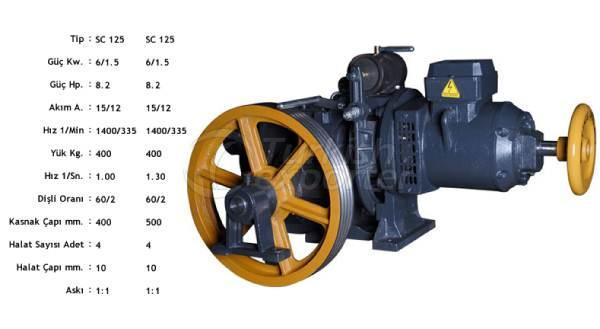 Elevator Motors SCD 125 VVF