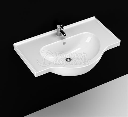 Yakamoz 75 cm Washbasin with Shelf