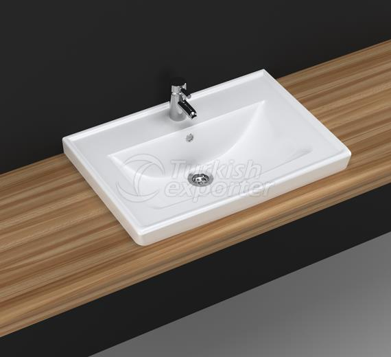 Safir 65 cm Washbasin with Shelf
