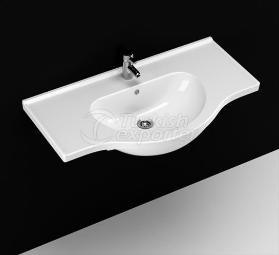 Yakamoz 90 cm Washbasin with Shelf