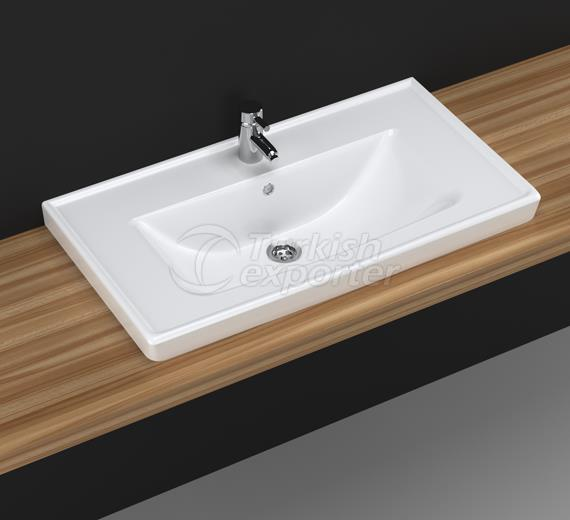 Safir 80 cm Washbasin with Shelf