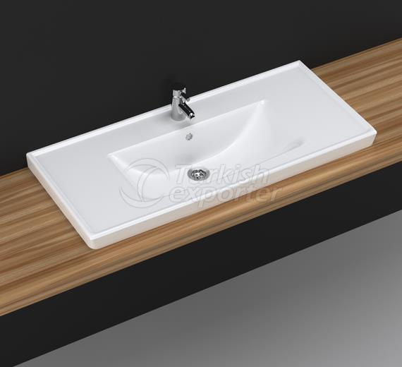 Safir 100 cm Washbasin with Shelf