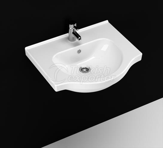 Yakamoz 55 cm Washbasin with Shelf