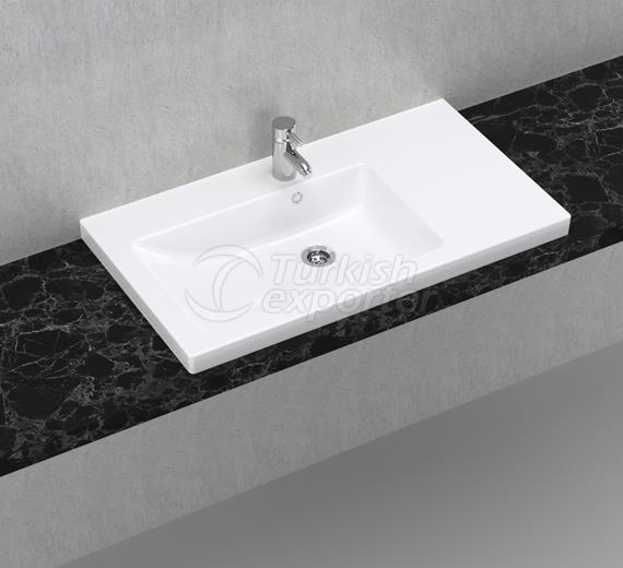 İda 80 cm Washbasin with Shelf