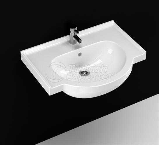 Yakamoz 65 cm Washbasin with Shelf