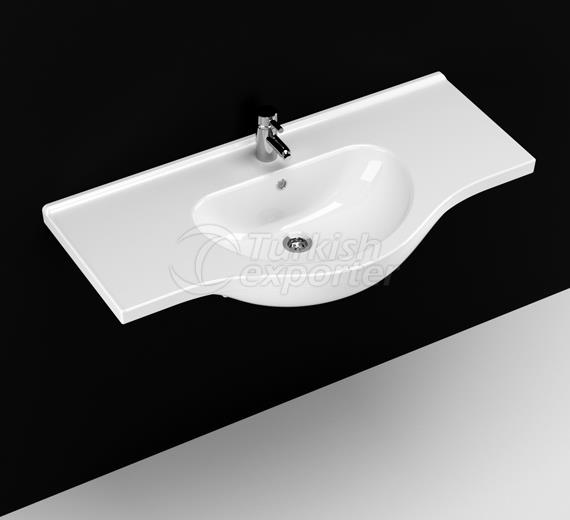 Yakamoz 100 cm Washbasin with Shelf