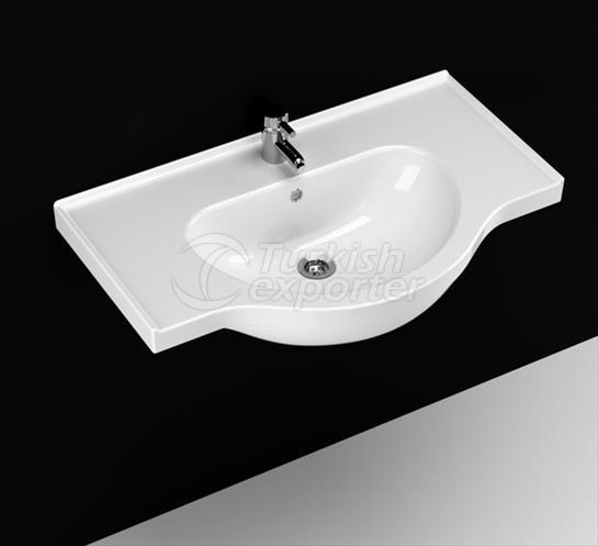 Yakamoz 80 cm Washbasin with Shelf