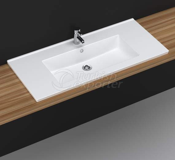 Bella 100 cm Washbasin with Shelf