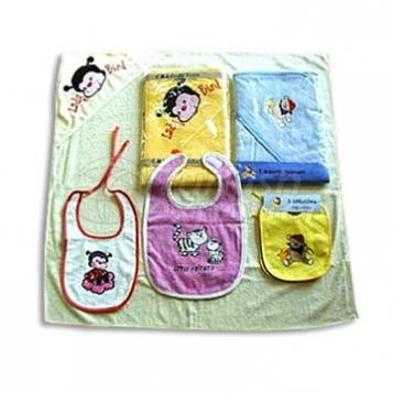 Baby Bib and Hooded Towel Set - MTX 22