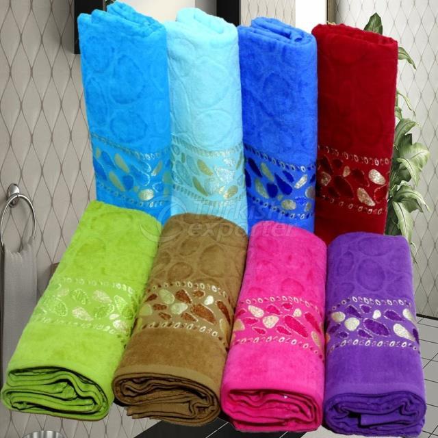 Velvet Tape Towel with Jacquard