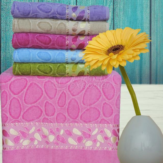 Bath Towel Velvet Jacquard