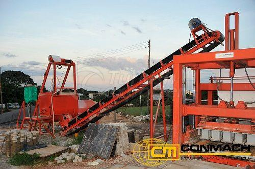 Concrete Block-Interlock Machine