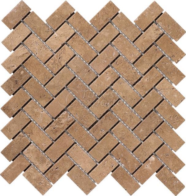Herringbone Mosaic 2,3x4,8 Noce