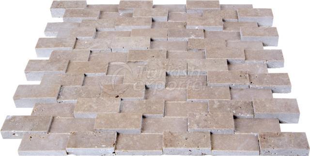 2,3x4,8 Cubic Brick Scabos Travertine
